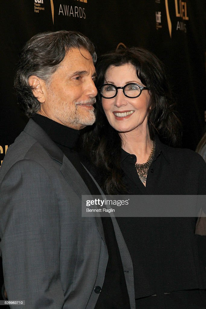 Actor Chris Sarandon and actress Joanna Gleason arrive at the 31st Annual Lucille Lortel Awards at NYU Skirball Center on May 1, 2016 in New York City.