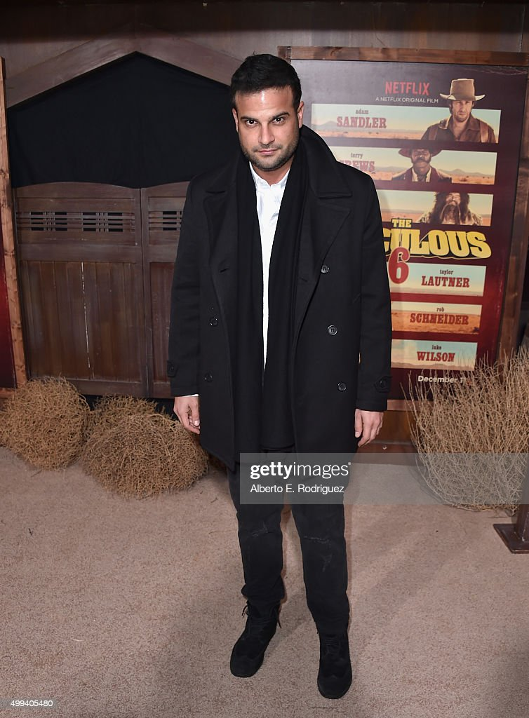 Actor Chris Titone attends the premiere of Netflix's 'The Ridiculous 6' at AMC Universal City Walk on November 30, 2015 in Universal City, California.