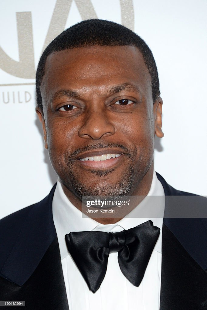 Actor <a gi-track='captionPersonalityLinkClicked' href=/galleries/search?phrase=Chris+Tucker&family=editorial&specificpeople=203254 ng-click='$event.stopPropagation()'>Chris Tucker</a> arrives at the 24th Annual Producers Guild Awards held at The Beverly Hilton Hotel on January 26, 2013 in Beverly Hills, California.