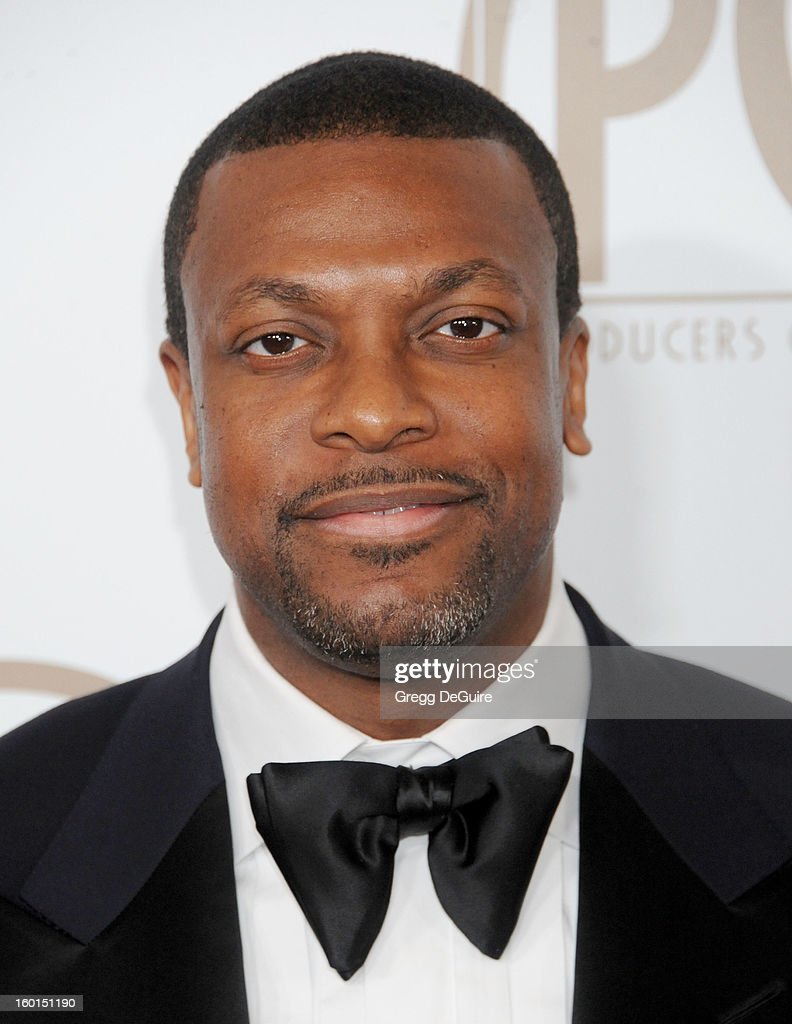 Actor <a gi-track='captionPersonalityLinkClicked' href=/galleries/search?phrase=Chris+Tucker&family=editorial&specificpeople=203254 ng-click='$event.stopPropagation()'>Chris Tucker</a> arrives at the 24th Annual Producers Guild Awards at The Beverly Hilton Hotel on January 26, 2013 in Beverly Hills, California.