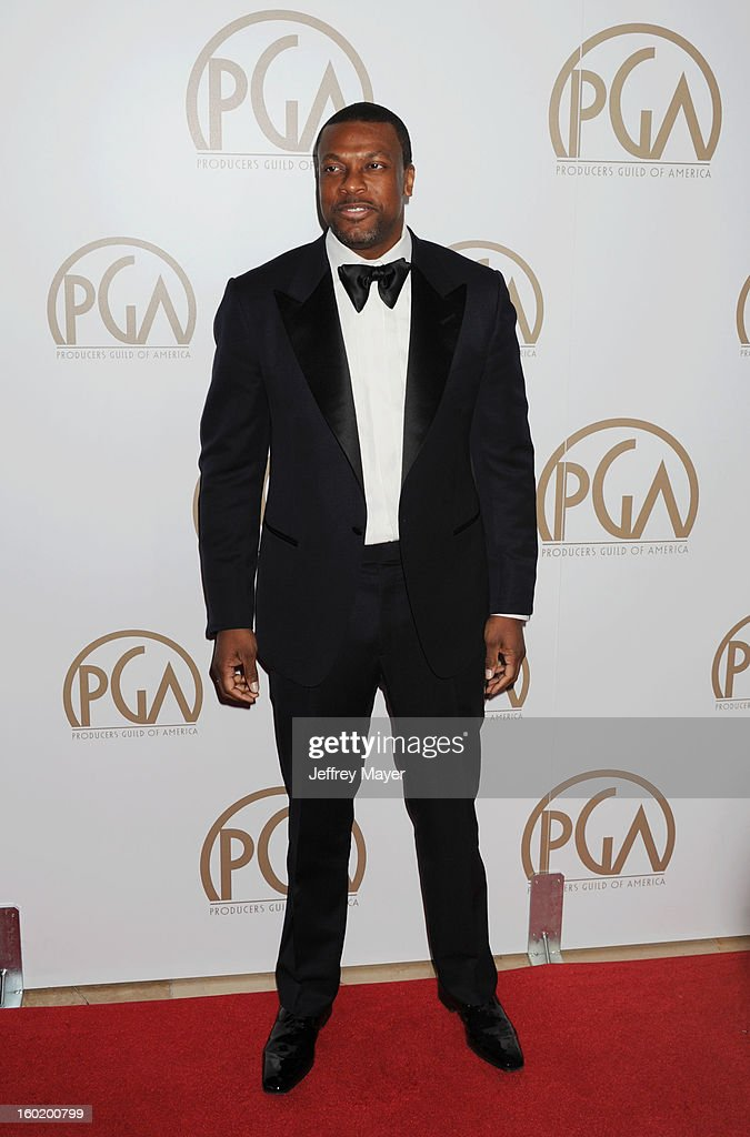 Actor Chris Tucker arrives at the 24th Annual Producers Guild Awards at The Beverly Hilton Hotel on January 26, 2013 in Beverly Hills, California.
