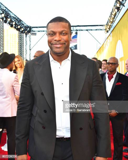 Actor Chris Tucker arrives on the red carpet during the 2017 NBA Awards Show on June 26 2017 at Basketball City in New York City NOTE TO USER User...