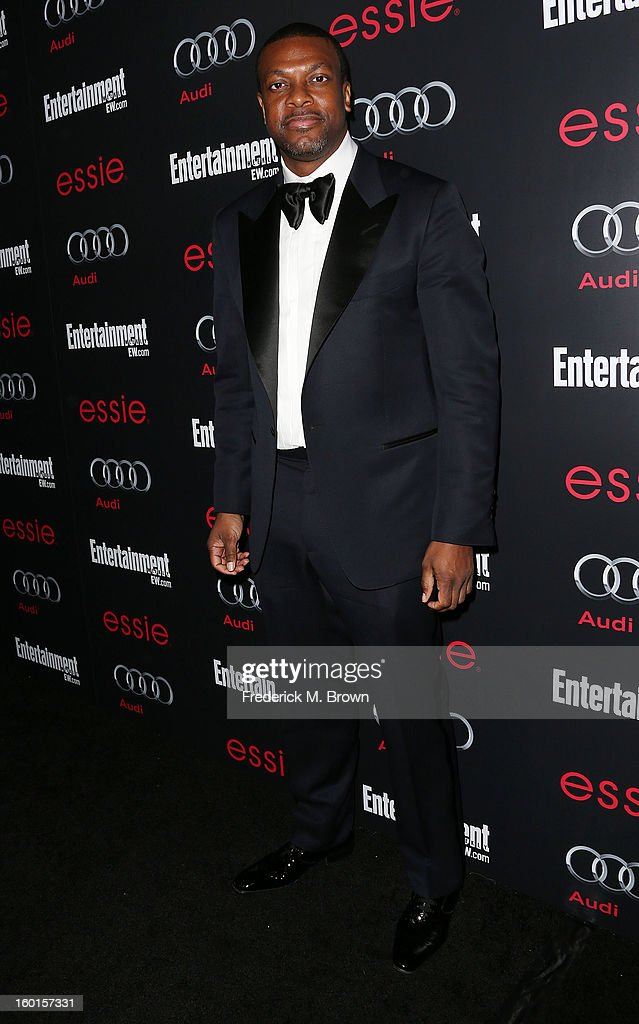 Actor <a gi-track='captionPersonalityLinkClicked' href=/galleries/search?phrase=Chris+Tucker&family=editorial&specificpeople=203254 ng-click='$event.stopPropagation()'>Chris Tucker</a> attends Entertainment Weekly Screen Actors Guild Awards Pre-Party at Chateau Marmont on January 26, 2013 in Los Angeles, California.