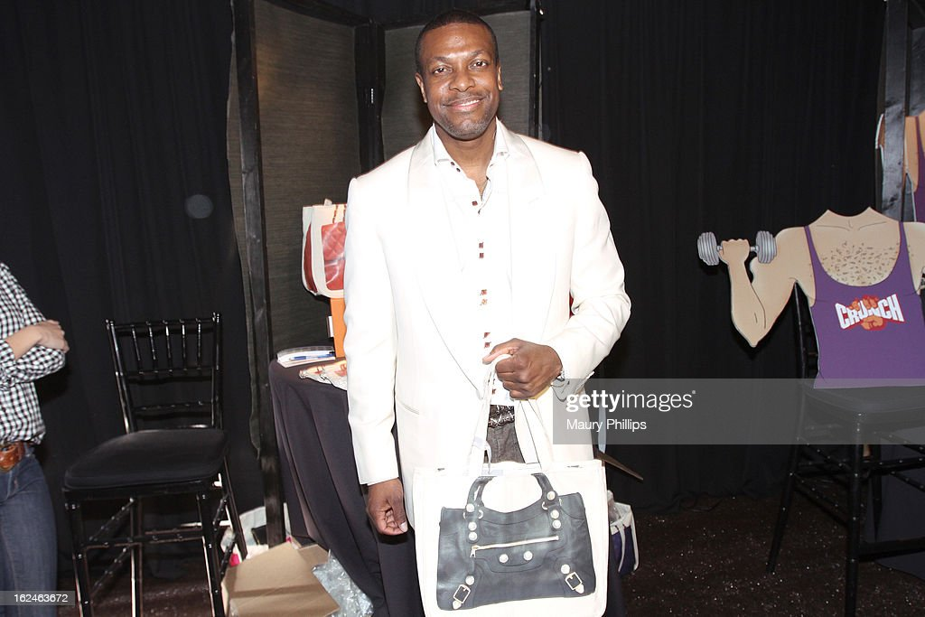 Actor <a gi-track='captionPersonalityLinkClicked' href=/galleries/search?phrase=Chris+Tucker&family=editorial&specificpeople=203254 ng-click='$event.stopPropagation()'>Chris Tucker</a> attends the On3 Official Presenter Gift Lounge during the 2013 Film Independent Spirit Awards at Santa Monica Beach on February 23, 2013 in Santa Monica, California.