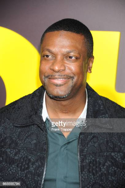Actor Chris Tucker attends the premiere of Netflix's 'Sandy Wexler' at the ArcLight Cinemas Cinerama Dome on April 6 2017 in Hollywood California