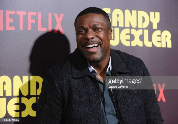 Actor Chris Tucker attends the premiere of 'Sandy Wexler' at ArcLight Cinemas Cinerama Dome on April 6 2017 in Hollywood California