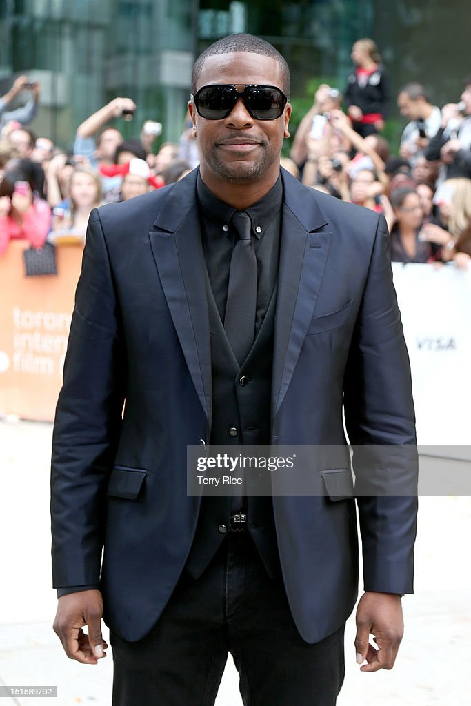 Actor <a gi-track='captionPersonalityLinkClicked' href=/galleries/search?phrase=Chris+Tucker&family=editorial&specificpeople=203254 ng-click='$event.stopPropagation()'>Chris Tucker</a> attends the 'Silver Linings Playbook' premiere during the 2012 Toronto International Film Festiva at Roy Thomson Halll on September 8, 2012 in Toronto, Canada.