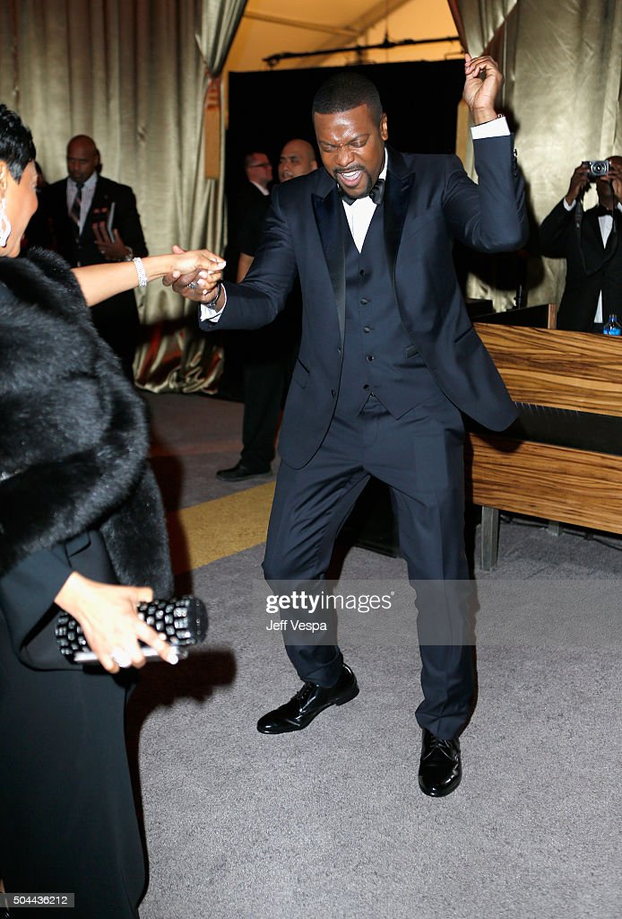 Actor Chris Tucker attends The Weinstein Company and Netflix Golden Globe Party presented with DeLeon Tequila Laura Mercier Lindt Chocolate Marie...