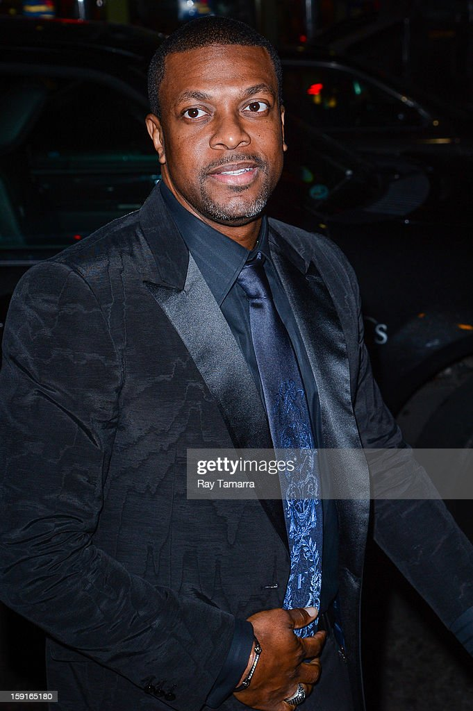 Actor <a gi-track='captionPersonalityLinkClicked' href=/galleries/search?phrase=Chris+Tucker&family=editorial&specificpeople=203254 ng-click='$event.stopPropagation()'>Chris Tucker</a> enters Cipriani 42nd Street on January 8, 2013 in New York City.