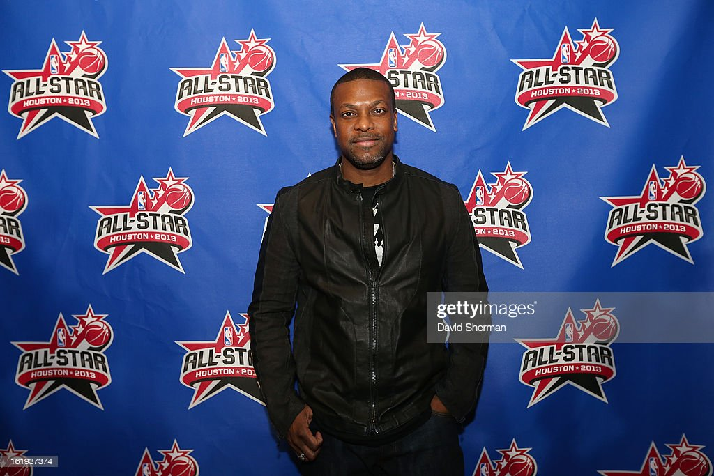 Actor <a gi-track='captionPersonalityLinkClicked' href=/galleries/search?phrase=Chris+Tucker&family=editorial&specificpeople=203254 ng-click='$event.stopPropagation()'>Chris Tucker</a> poses on the All-Star Red Carpet prior to the 2013 NBA All-Star Game presented by Kia Motors on February 17, 2013 at the Toyota Center in Houston, Texas.