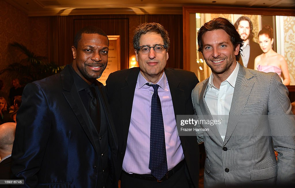 Actor Chris Tucker, producer Tom Rothman, and actor Bradley Cooper attend the 13th Annual AFI Awards at Four Seasons Los Angeles at Beverly Hills on January 11, 2013 in Beverly Hills, California.