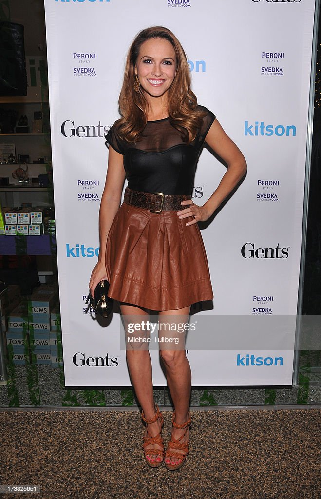Actor <a gi-track='captionPersonalityLinkClicked' href=/galleries/search?phrase=Chrishell+Stause&family=editorial&specificpeople=675283 ng-click='$event.stopPropagation()'>Chrishell Stause</a> attends the Gents At Kitson Launch Event at Kitson on Roberston on July 11, 2013 in Beverly Hills, California.