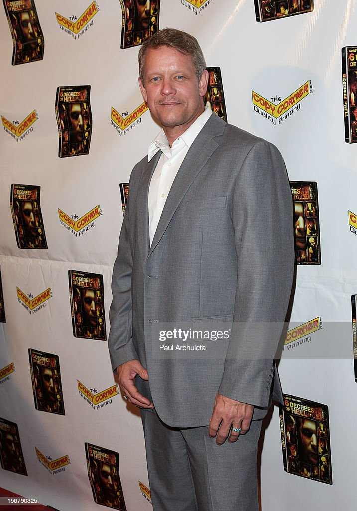 Actor Chriss Anglin attends the Premiere of '6 Degrees Of Hell' at Laemmle's Music Hall 3 on November 20, 2012 in Beverly Hills, California.