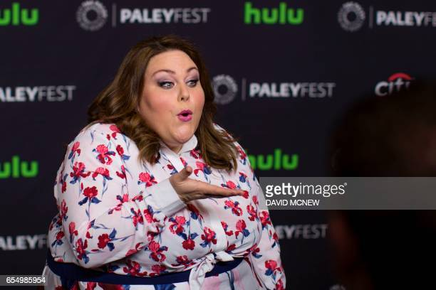 Actor Chrissy Metz attends PaleyFest LA at the Dolby Theatre on March 18 2017 in the Hollywood section of Los Angeles California / AFP PHOTO / DAVID...