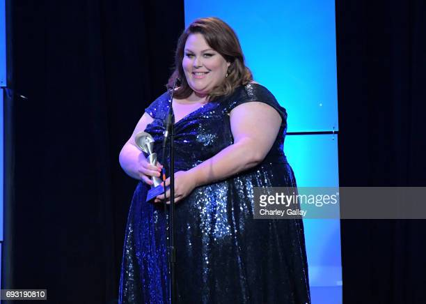 Actor Chrissy Metz speaks onstage during the 42nd Annual Gracie Awards hosted by The Alliance for Women in Media at the Beverly Wilshire Hotel on...