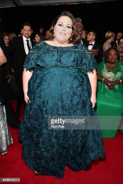 Actor Chrissy Metz walks the red carpet during the 69th Annual Primetime Emmy Awards at Microsoft Theater on September 17 2017 in Los Angeles...