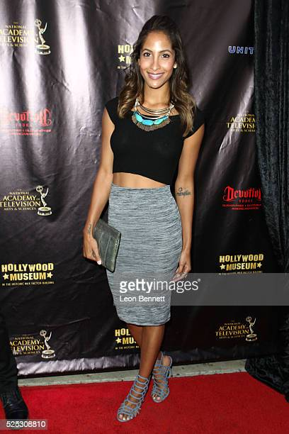 Actor Christel Khalil attends the 2016 Daytime Emmy Awards Nominees Reception Arrivals at The Hollywood Museum on April 27 2016 in Hollywood...