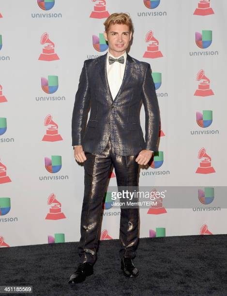 Actor Christian Acosta poses in the press room at the 14th Annual Latin GRAMMY Awards held at the Mandalay Bay Events Center on November 21 2013 in...