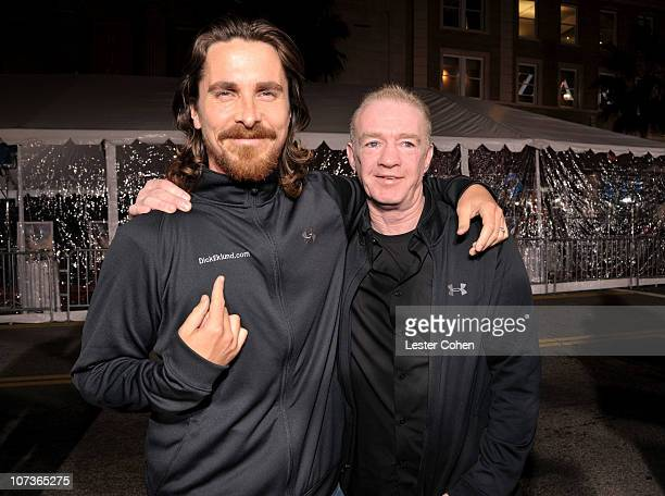Actor Christian Bale and Dicky Eklund arrive at 'The Fighter' Los Angeles premiere held at the Grauman's Chinese Theatre on December 6 2010 in...