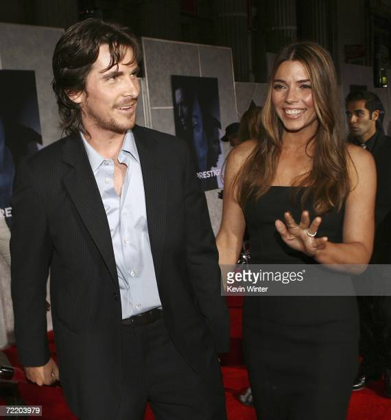 Actor Christian Bale and his wife Sibi arrive at the premiere of Touchstone Pictures' 'The Prestige' at the El Capitan Theater on October 17 2006 in...