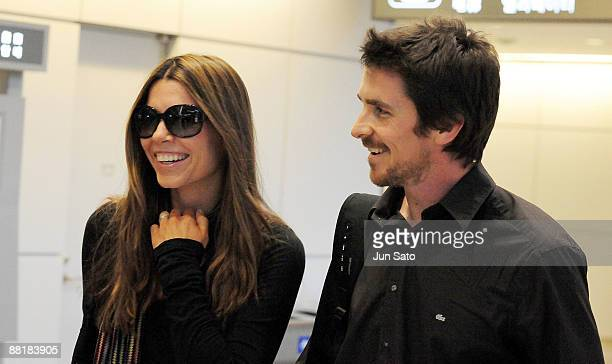 Actor Christian Bale and his wife Sibi Bale arrive at Narita International Airport on June 3 2009 in Narita Chiba Japan