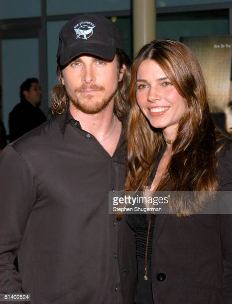 Actor Christian Bale and his wife Sibi Bale attend the Variety Screening Series 'The Machinist' at The Arclight Cinerama Dome on October 4 2004 in...