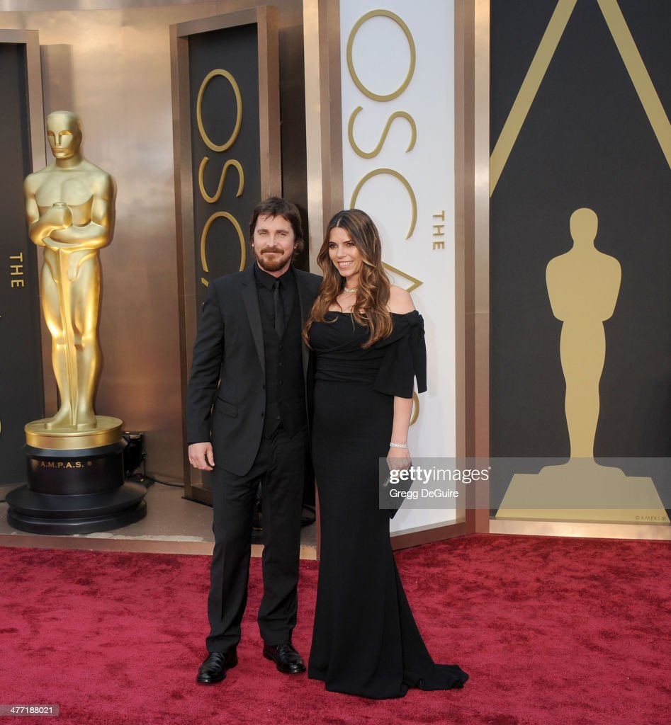 Actor Christian Bale and Sibi Blazic arrive at the 86th Annual Academy Awards at Hollywood & Highland Center on March 2, 2014 in Hollywood, California.