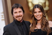 Actor Christian Bale and Sibi Blazic arrive at the 86th Annual Academy Awards at Hollywood Highland Center on March 2 2014 in Hollywood California