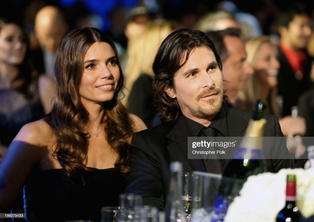 Actor <a gi-track='captionPersonalityLinkClicked' href=/galleries/search?phrase=Christian+Bale&family=editorial&specificpeople=239518 ng-click='$event.stopPropagation()'>Christian Bale</a> (R) and Sibi Blazic attend the 18th Annual Critics' Choice Movie Awards held at Barker Hangar on January 10, 2013 in Santa Monica, California.