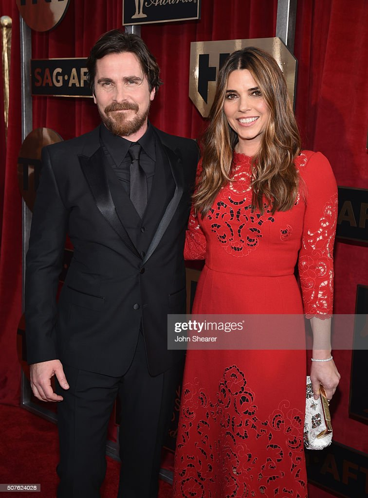 Actor Christian Bale and Sibi Blazic attend the 22nd Annual Screen Actors Guild Awards at The Shrine Auditorium on January 30, 2016 in Los Angeles, California.
