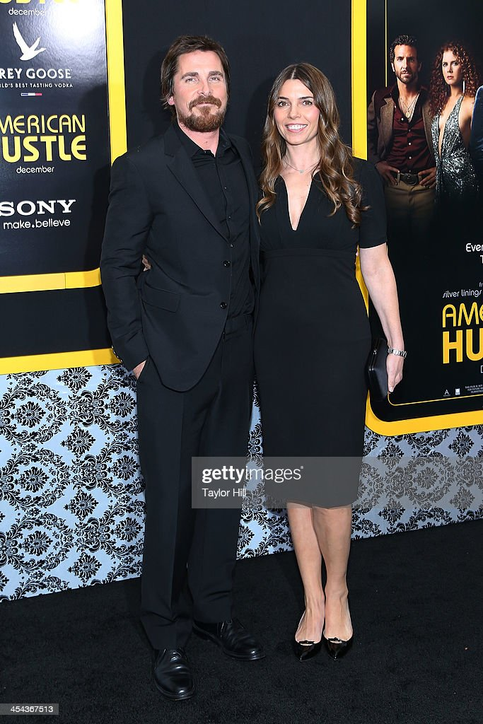 Actor <a gi-track='captionPersonalityLinkClicked' href=/galleries/search?phrase=Christian+Bale&family=editorial&specificpeople=239518 ng-click='$event.stopPropagation()'>Christian Bale</a> and Sibi Blazic attend the 'American Hustle' screening at Ziegfeld Theater on December 8, 2013 in New York City.