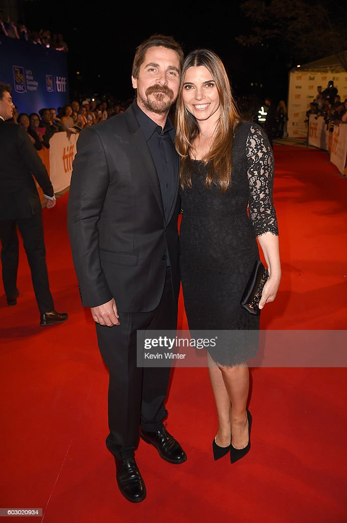 Actor Christian Bale (L) and Sibi Blazic attend the 'The Promise' premiere during the 2016 Toronto International Film Festival at Roy Thomson Hall on September 11, 2016 in Toronto, Canada.