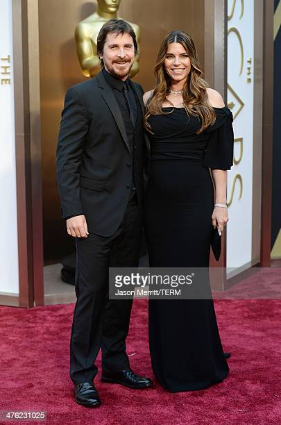 Actor Christian Bale and Sibi Blazic attends the Oscars held at Hollywood Highland Center on March 2 2014 in Hollywood California