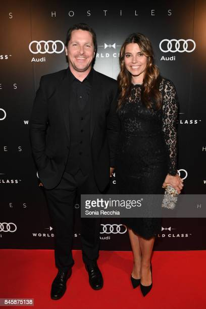 Actor Christian Bale and wife Sibi Blazic attend PreScreening Event For 'Hostiles' Hosted by Audi Canada During The Toronto International Film...