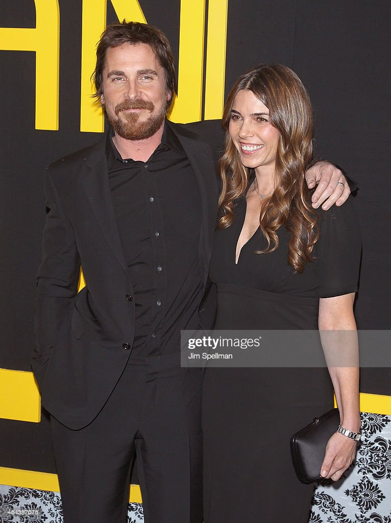 Actor Christian Bale and wife Sibi Blazic attend the 'American Hustle' screening at Ziegfeld Theater on December 8, 2013 in New York City.