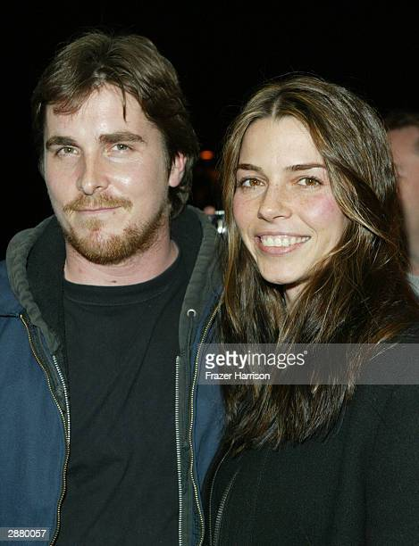 Actor Christian Bale and wife Sibi Blazic attend the premiere of the film 'The Machinist' at the Eccles aTheatre during the 2004 Sundance Film...