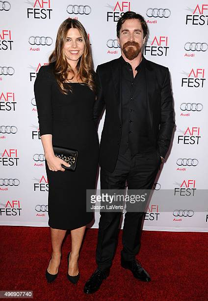 Actor Christian Bale and wife Sibi Blazic attend the premire of 'The Big Short' at the 2015 AFI Fest at TCL Chinese 6 Theatres on November 12 2015 in...