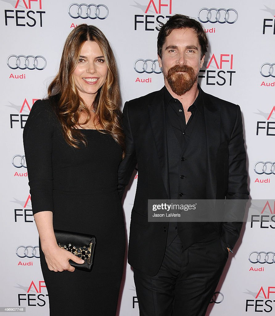 Actor Christian Bale (R) and wife Sibi Blazic attend the premire of 'The Big Short' at the 2015 AFI Fest at TCL Chinese 6 Theatres on November 12, 2015 in Hollywood, California.