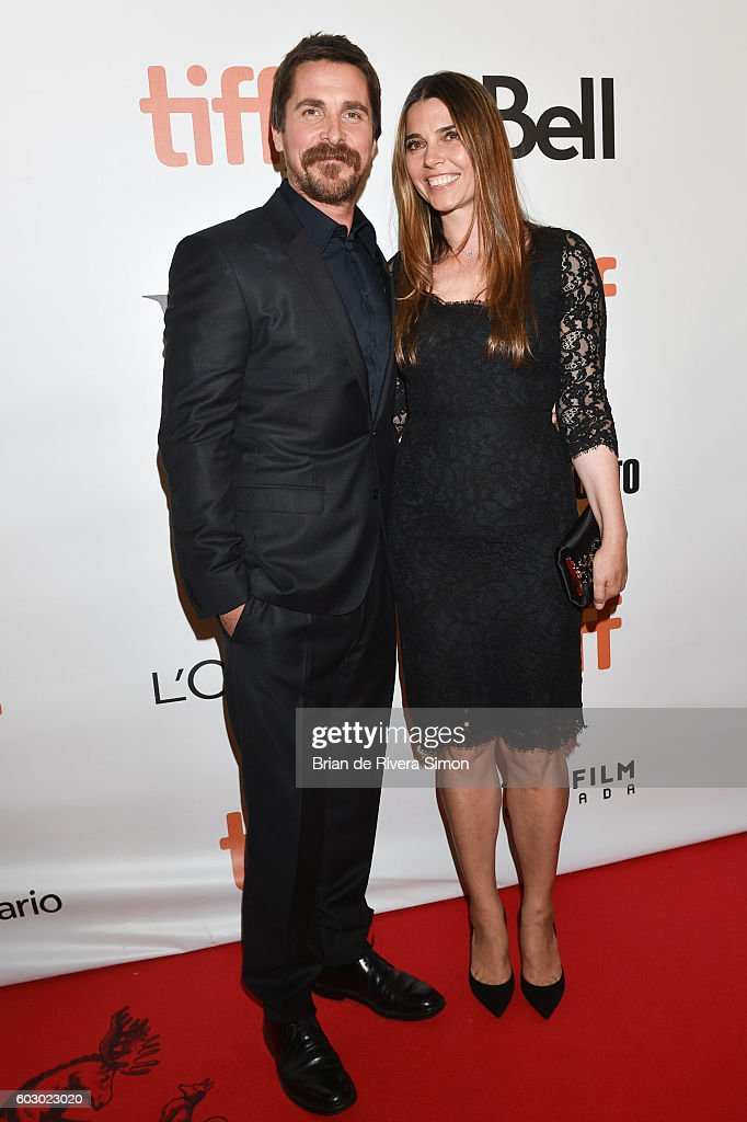 Actor Christian Bale (L) and wife Sibi Blazic (R) attend 'The Promise' premiere during 2016 Toronto International Film Festival at Roy Thomson Hall on September 11, 2016 in Toronto, Canada.