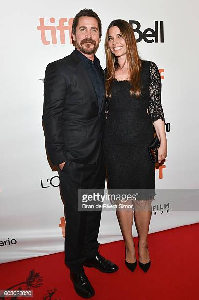 Actor Christian Bale and wife Sibi Blazic attend 'The Promise' premiere during 2016 Toronto International Film Festival at Roy Thomson Hall on...