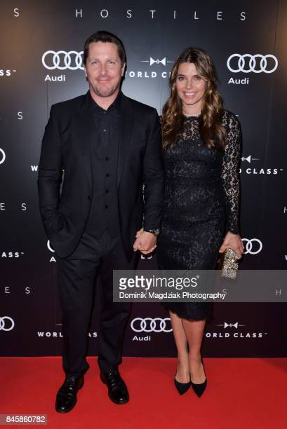 Actor Christian Bale and wife Sibi Blazic attends the Diageo World Class Canada and Audi 'Hostiles' premiere party during the 2017 Toronto...