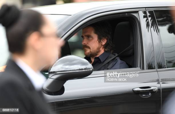 Actor Christian Bale arrives at Hollywood Forever Ceremony for the funeral and memorial service for Soundgarden frontman Chris Cornell May 26 2017 in...