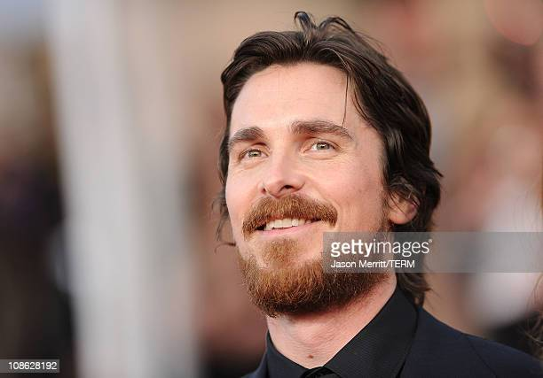 Actor Christian Bale arrives at the 17th Annual Screen Actors Guild Awards held at The Shrine Auditorium on January 30 2011 in Los Angeles California