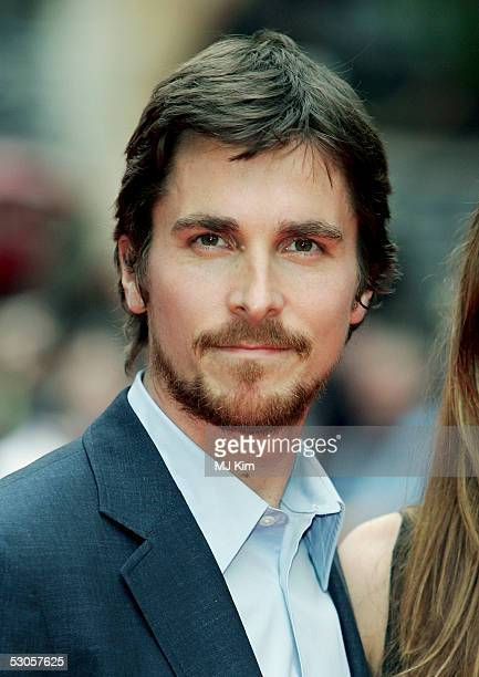 Actor Christian Bale arrives at the European premiere of 'Batman Begins' at the Odeon Leicester Square on June 12 2005 in London England