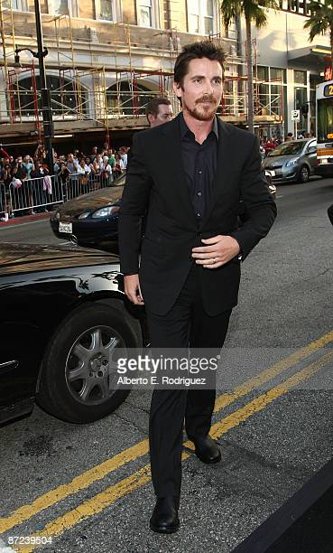 Actor Christian Bale arrives at the premiere of Warner Bros 'Terminator Salvation' at Grauman's Chinese Theatre on May 14 2009 in Hollywood California
