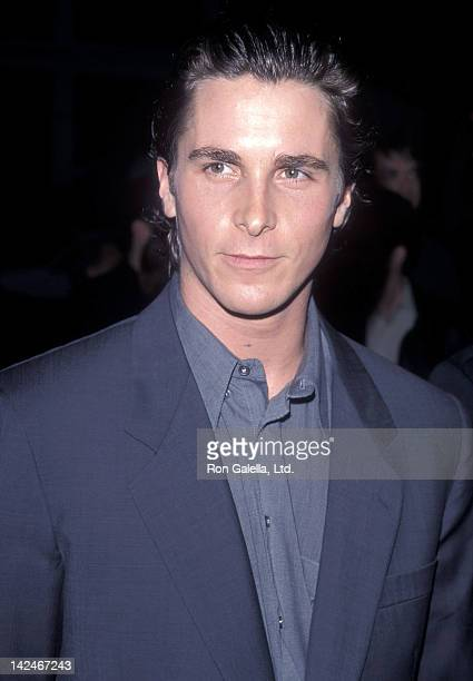 Actor Christian Bale attends 'A Midsummer Night's Dream' Westwood Premiere on April 26 1999 at the Mann Bruin Theatre in Westwood California