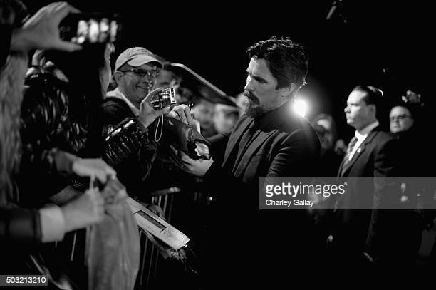 Actor Christian Bale attends the 27th Annual Palm Springs International Film Festival Awards Gala at Palm Springs Convention Center on January 2 2016...