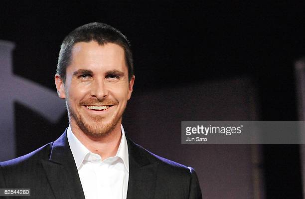 Actor Christian Bale attends 'The Dark Knight' Japan Premiere at Tokyo International Forum on July 28 2008 in Tokyo Japan The film will open on...