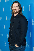 Actor Christian Bale attends the 'Knight of Cups' photocall during the 65th Berlinale International Film Festival at Grand Hyatt Hotel on February 8...