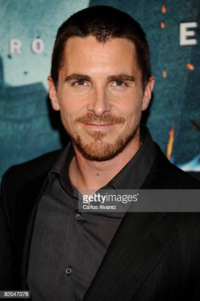 Actor Christian Bale attends the premiere of 'The Dark Knight' at Coliseum Cinema on July 23 2008 in Barcelona Spain